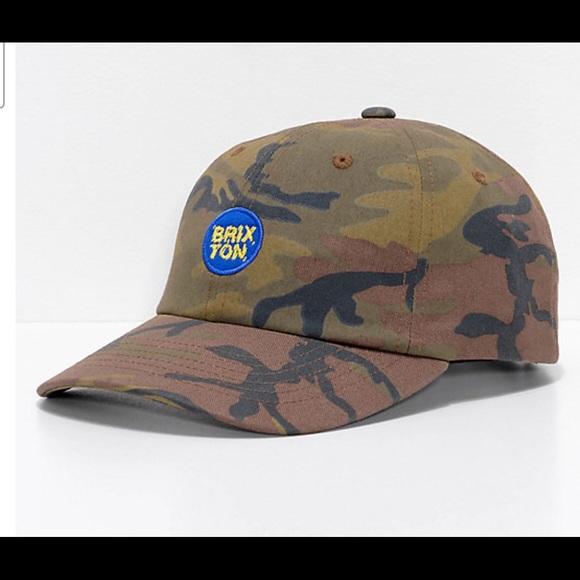 1b5e83750654d Glasgow Camo Strapback Hat from Brixton